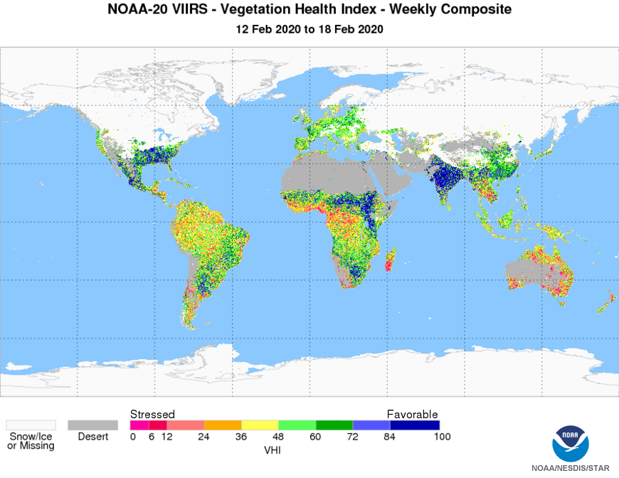 N20 VIIRS Vegetation Health - Product Weekly Composites - Vegetation Health Index - 02/17/2020