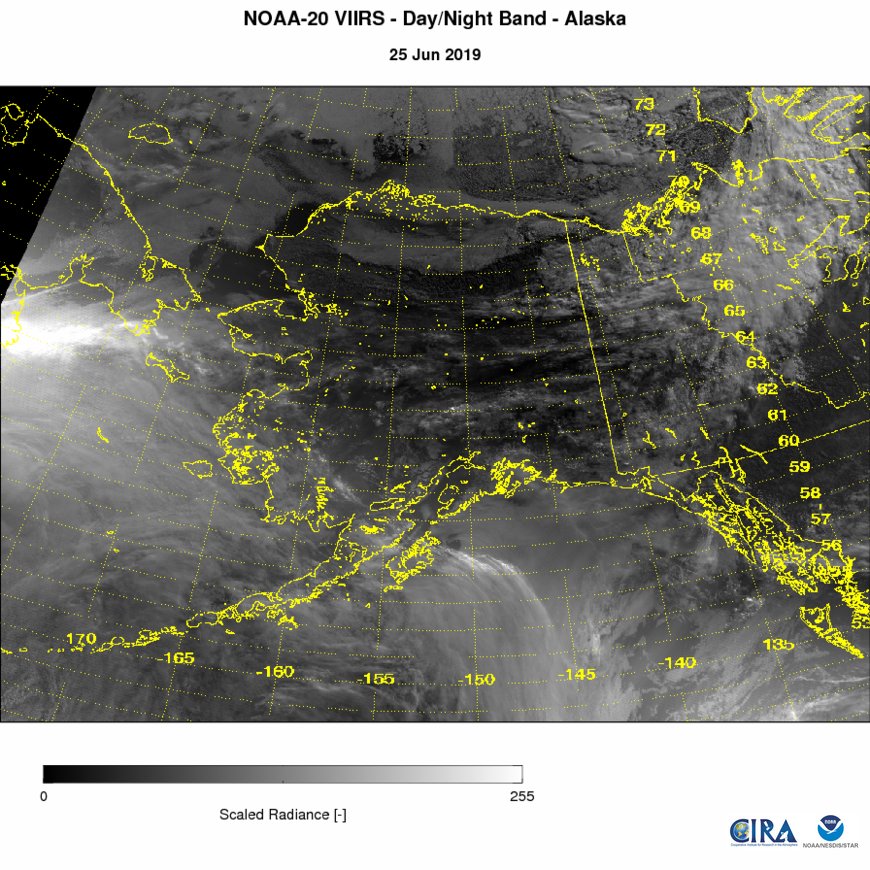 NOAA-20 VIIRS Imagery - VIIRS Imagery - Day-Night Band - 06/25/2019
