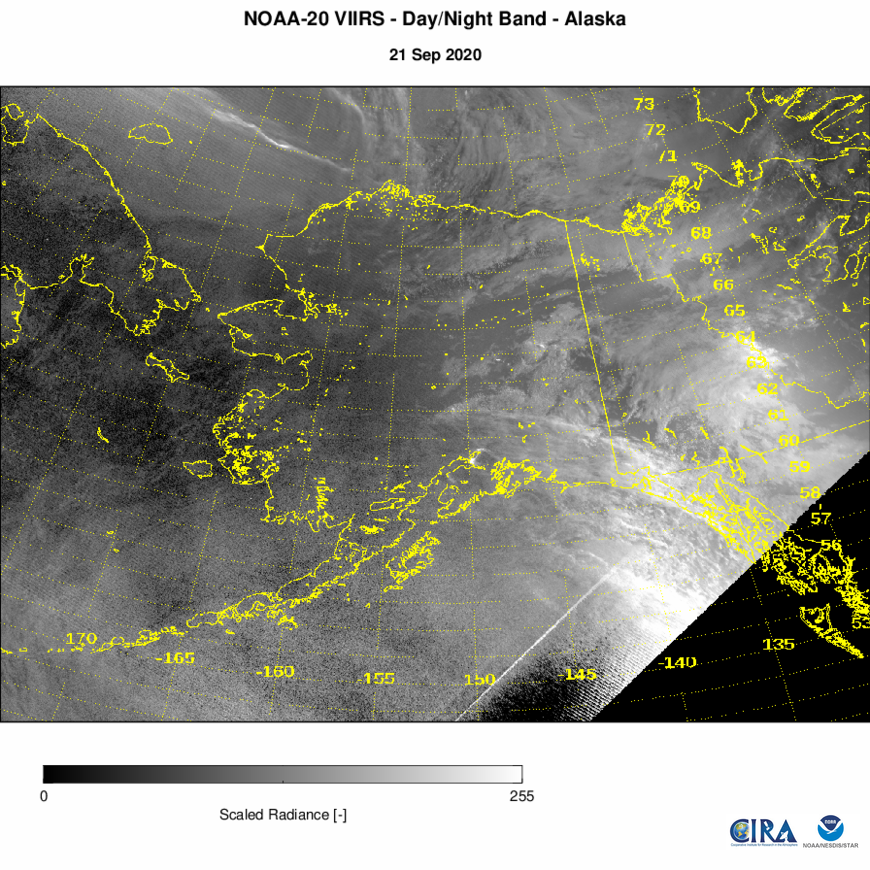 NOAA-20 VIIRS Imagery - VIIRS Imagery - Day-Night Band - 09/21/2020