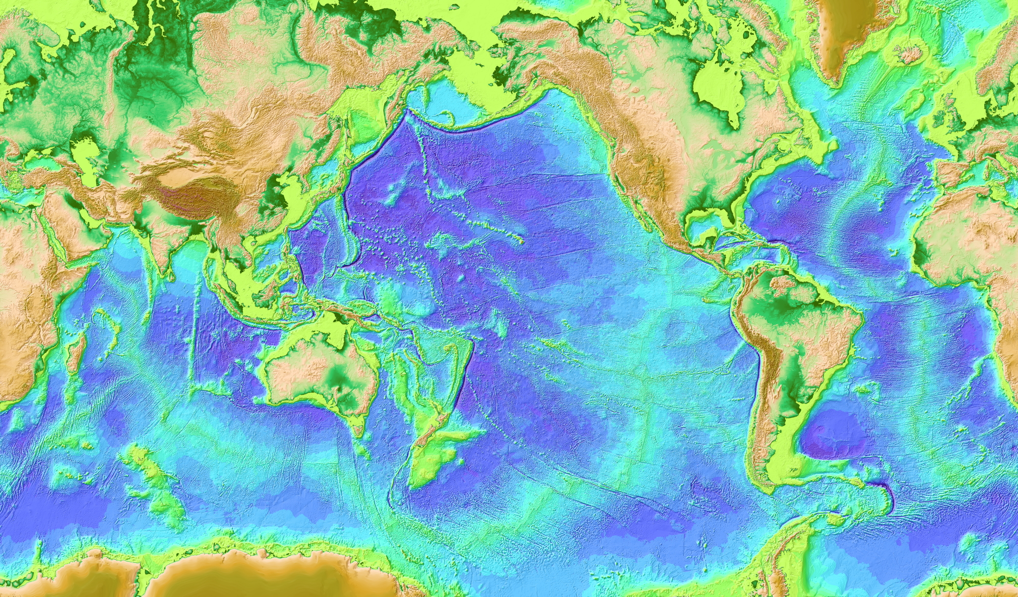 Ocean Floor Elevation Map : Noaa nesdis star socd laboratory for satellite