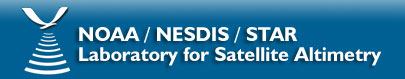 NOAA / NESDIS / STAR Laboratory for Satellite Altimetry banner